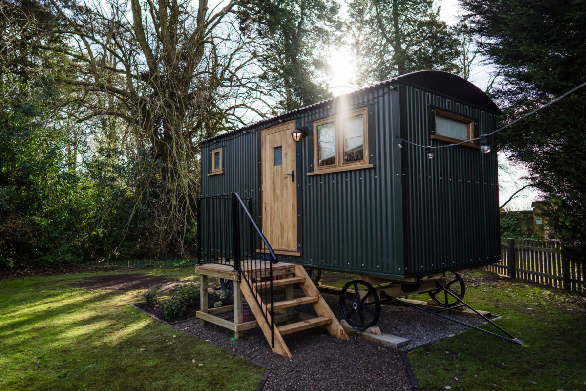 new wedding venue features shepherds hut