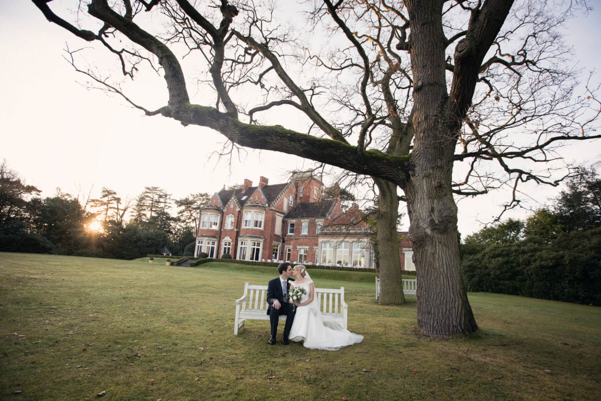 Bride and Groom at Pendrell Hall Small Wedding Venues